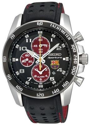 Der Seiko Sportura FC Barcelona Alarm-Chronograph