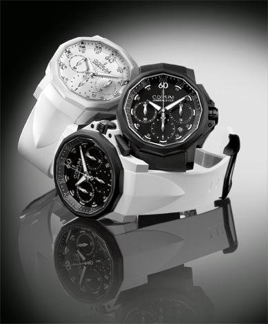 Im coolen Schwarz-Weiß-Look: die Admiral's Cup Challenger 44 Chrono Rubber