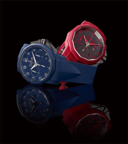 Urlaubsfeeling: Der Admiral's Cup Challenger 44 Chrono Rubber in Blau oder Rot von Corum