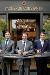 Marc Guten, Juan Carlos Torres (CEO Vacheron Constantin), Hugues de Pins (Präsident Vacheron Constantin Nordamerika)