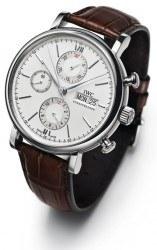 Die sportlichste Portofino: der Chronograph (mit Lederband: 4.600 Euro, mit Milanaiseband: 5.450 Euro)