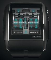 Virtuelle Komplikationen: Die neue Slyde von Jorg Hysek für HD3 Complications offeriert traditionelle Uhrmacherei auf einem Touchscreen, der hier eine mechanisch gesteuerte, digitale Zeitanzeige mit springender Stunde simuliert
