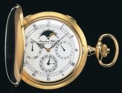 Ausweichmanöver: IWC begegnet der Quarzkrise mit komplizierten Taschenuhren. Hier die von Kurt Klaus entwickelte Referenz 5450, eine Schaffhauser Savonnette mit Kalendarium und Mondphase von 1979