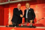Jean-Claude Biver und Luca Cordero di Montezemolo, Präsident von Ferrari S.p.A, verkünden die neue Partnerschaft