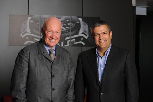 Jean-Claude Biver und sein Nachfolger, der neue Hublot-CEO, Ricardo Guadalupe
