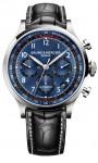 Mit blauem Zifferblatt: der Capeland Chronograph von Baume & Mercier