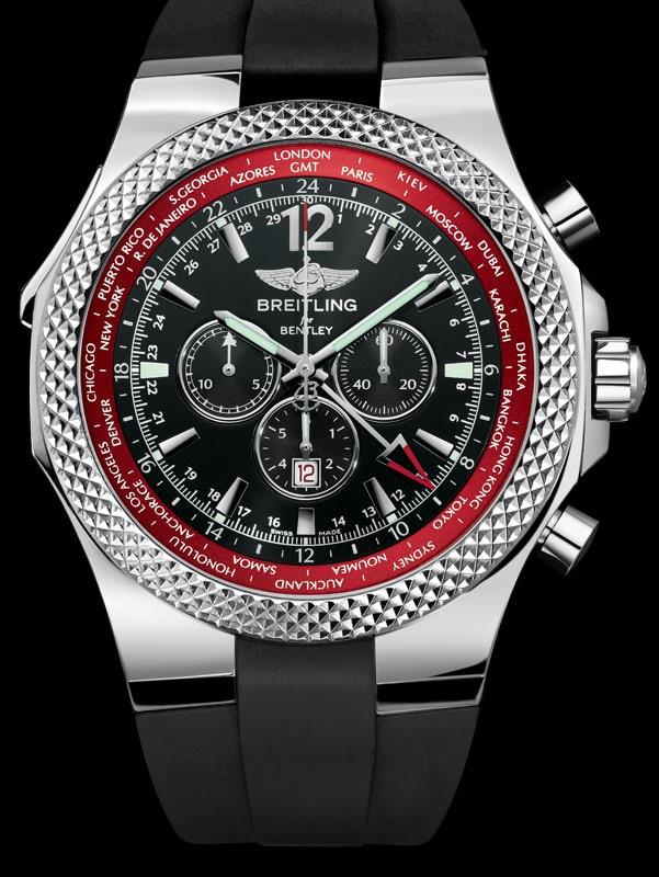 """Mit zweiter Zeitzone der Breitling Chronograph Bentley GMT """"V8"""""""