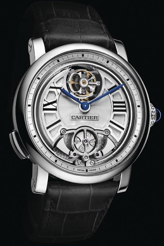 Die Flying Tourbillon Minute Repeater von Cartier hat ein Gehäuse aus Titan (ca. 286.000 Euro)