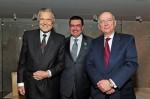 Jean-Paul Barbier-Mueller, Direktor Museum Barbier-Mueller; Juan-Carlos Torres, CEO Vacheron Constantin; Alain Catta, französischer Botschafter in der Schweiz