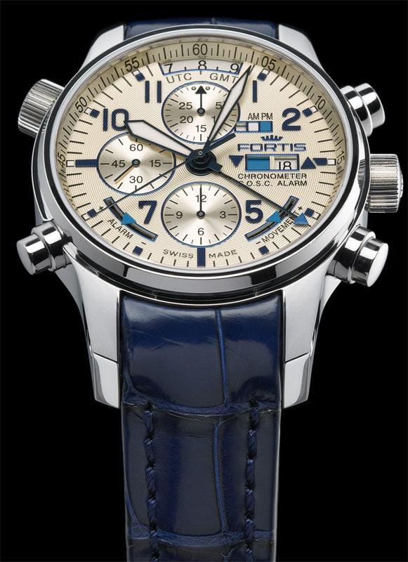 Der F-43 Flieger Chronograph Alarm GMT Chronometer C.O.S.C. von Fortis