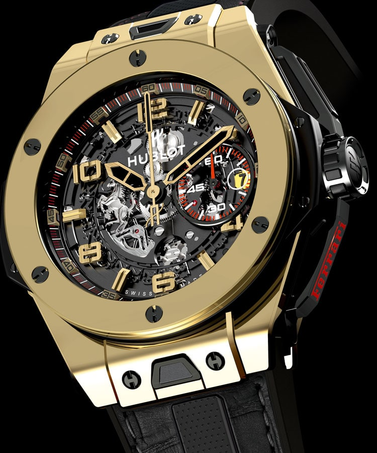 hublot magic gold f r ferrari. Black Bedroom Furniture Sets. Home Design Ideas