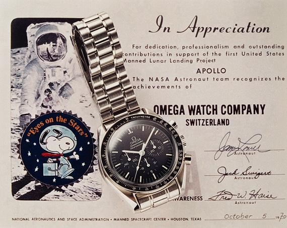 Snoopy Award: Omega erhielt die höchste Auszeichnung der NASA-Astronauten nach der sicheren Rückkehr von Apollo 13