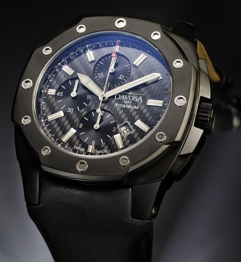 Neuer Chronograph von Davosa: der Black Titanium Limited Edition