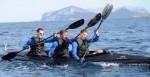 Die Nationalspieler beim Faltbootrennen in Sardinien