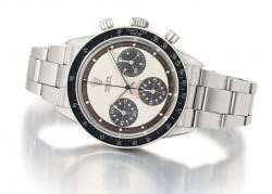 Lot 55: Rolex Stahlchronograph, Paul Newman Modell, Ref. 6239, circa 1969. Schätzpreis 34.000-50.000 Euro, verkauft für 67.500 Euro