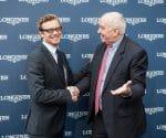 Der neue Longines-Botschafter Simon Baker mit Walter von Känel, Präsident von Longines