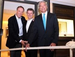 Eröffnung Studio Parmigiani im Hotel Bayerischer Hof Frank Möller, Meisteruhrmacher Michel Parmigiani und Jean-Marc Jacot (CEO Parmigiani)