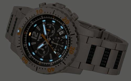 traser®H3 Extreme Sport Chronograph in der Nacht