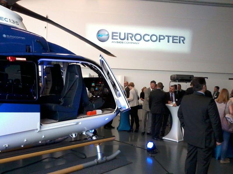 Hubschrauber bei der TeStaF-Präsentation