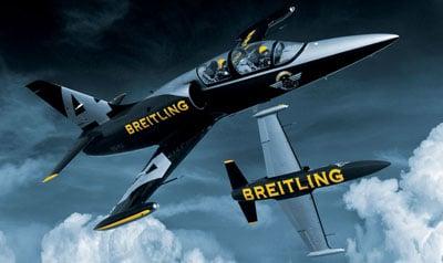 Der Markenschriftzug auf den Maschinen des Breitling-Jet-Teams
