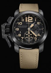 Graham Chronofighter Oversize Black Sahara