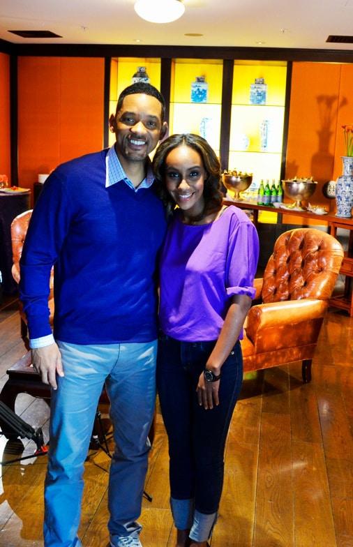 MTV & Pro7 Moderatorin Hadnet Tesfai mit ihrer Blaken-Uhr beim Interview mit Will Smith.