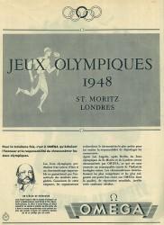 Bei den Olympischen Spielen in London 1948 war Omega schon einmal offizieller Zeitnehmer