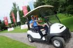 Die Moderatoren Norbert Dobeleit und Jan Stecker bei der Omega Golf Trophy 2012