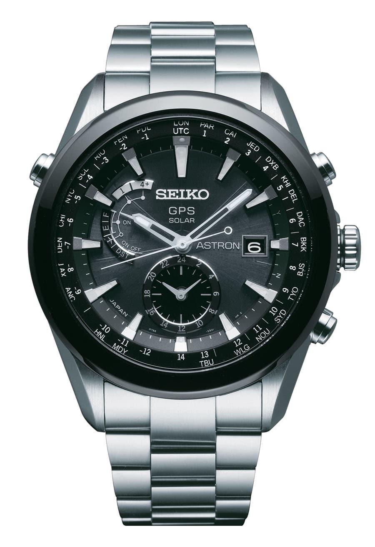 Die Seiko Astron SAST003G besteht aus High-Intensity-Titanium, einem Metall mit der Oberflächenhärte von Stahl, das jedoch nur 60 Prozent seines Gewichts aufweist.