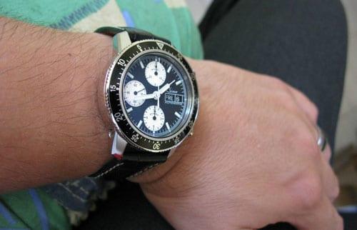 Die Sinn 103 A Sa am Handgelenk von Uhrensammler Frank Eisenberg
