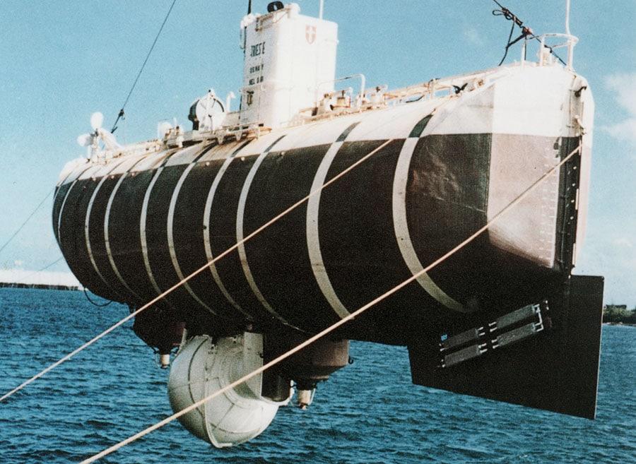 Tauchboot Trieste 1960, mit an Bord: Ein Prototyp der Rolex Deep Sea Special
