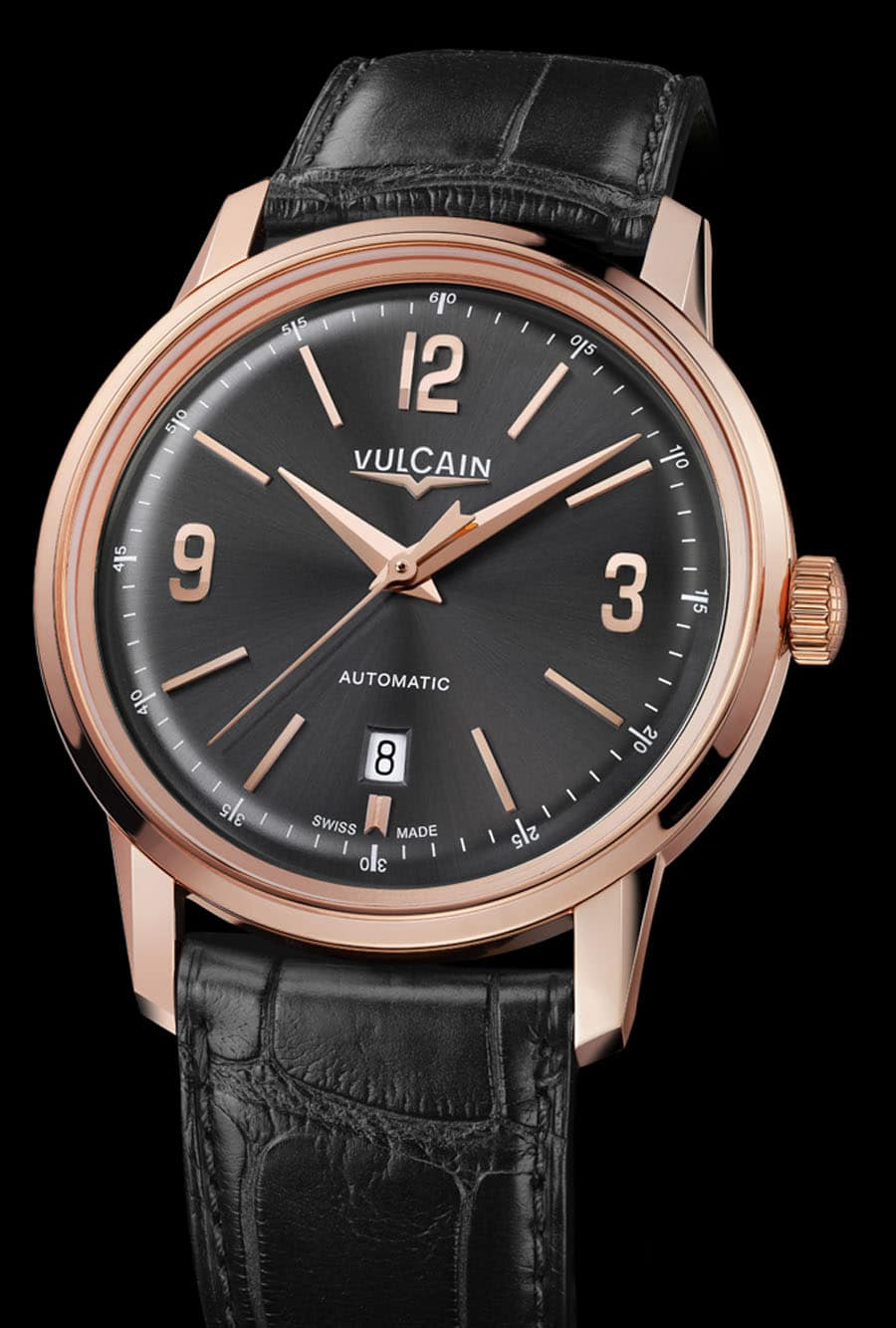 Vulcain 50s Presidents` Classic Rosegold