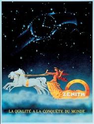 Im Zenit des Uhrenhimmels: Werbeplakat von 1946