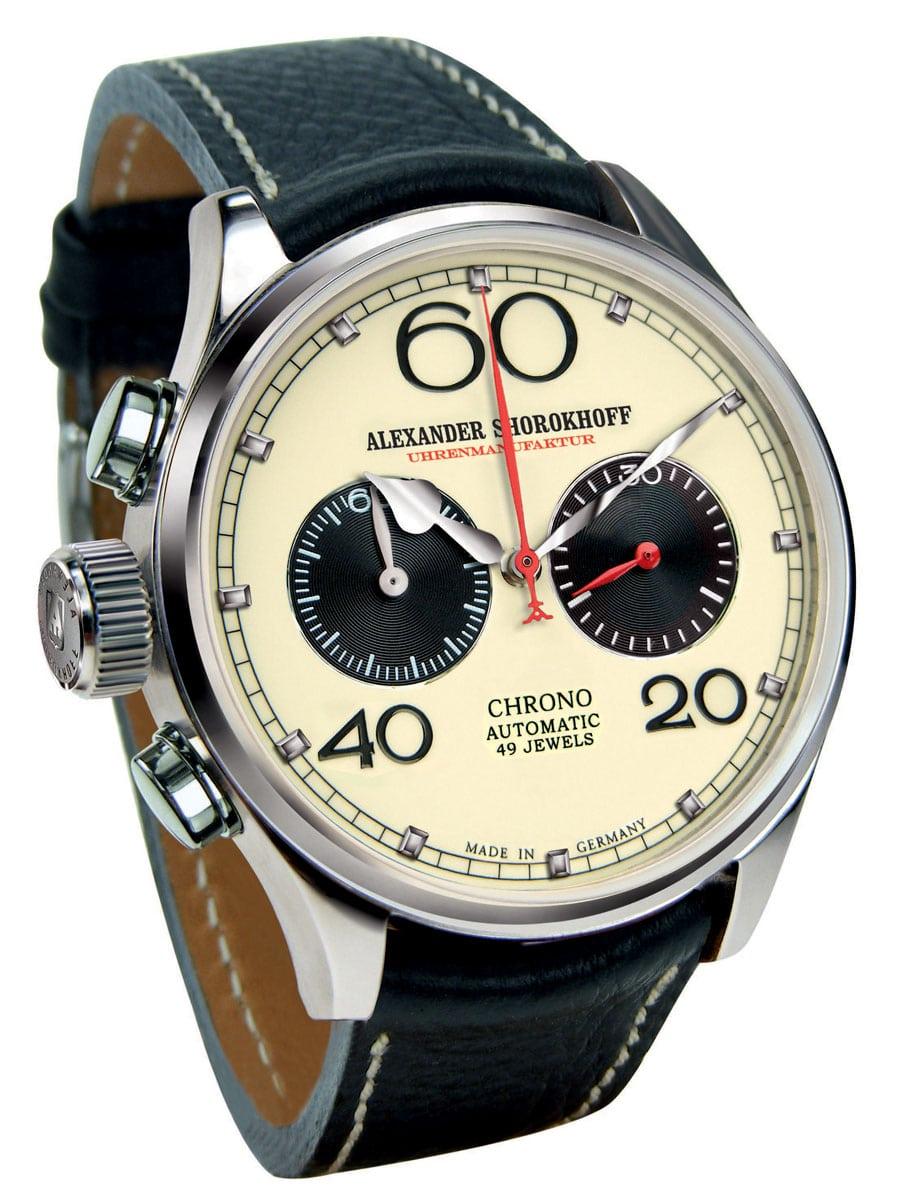 Die Avantgarde Linkshänder-Uhr von Alexander Shorkohoff