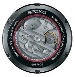 Das Design der Gehäuserückseite des neuen mechanischen Seiko Ananta Chronographen