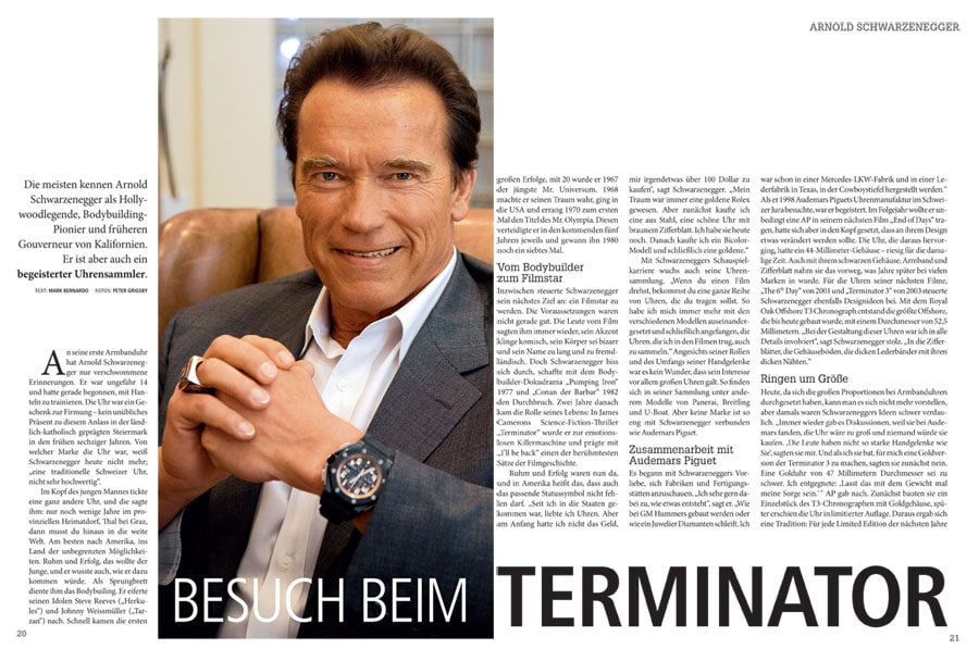 Arnold Schwarzenegger ist begeisteter Uhrensammler