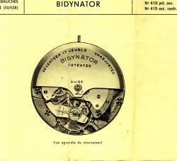 Automatik mit beidseitigem Aufzug: Bidynator-Kaliber von Felsa