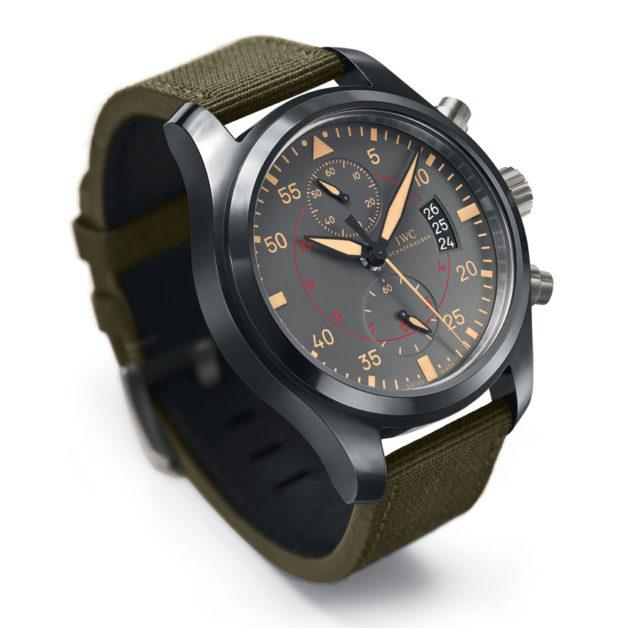 Die Fliegeruhr Chronograph TOP GUN Miramar (Ref.3880) von IWC Schaffhausen hat mit dem Kaliber 89365 eines der modernsten und widerstandsfähigsten Chronographenwerke an Bord