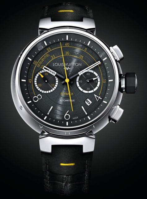 Sportlich mit gelben Akzenten: der Louis Vuitton Flyback Tambour Automatic Chronograph