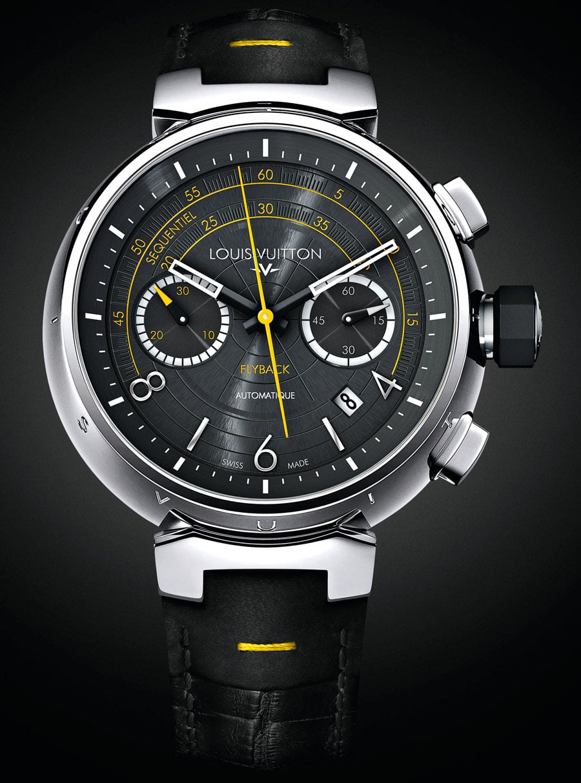 louis vuitton flyback tambour automatic chronograph das uhren portal. Black Bedroom Furniture Sets. Home Design Ideas