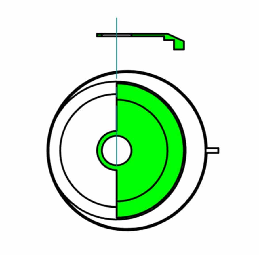 Berechnung Drehmoment Zentralrotor bei zwei Millimeter aus dem Zentrum gerückten Lager