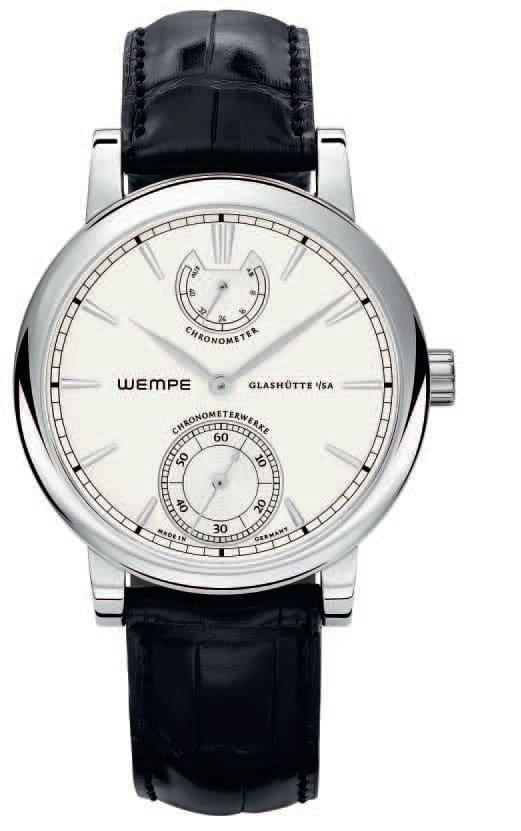 Wempe Chronometerwerke WG08 limitierte Edition Edelstahl