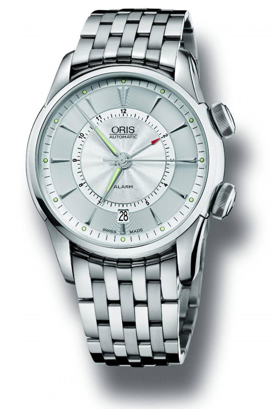 Diese Variante der Artelier Alarm von Oris ist mit dem La-Joux-Perret-Kaliber 5800 ausgestattet und kostet aktuell 5.350 Euro