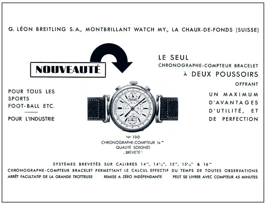 Breitling Anzeige 1934