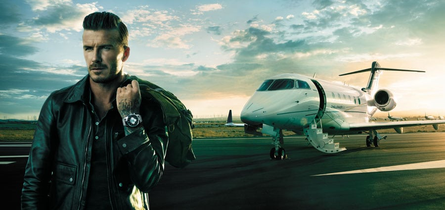Breitling und David Beckham