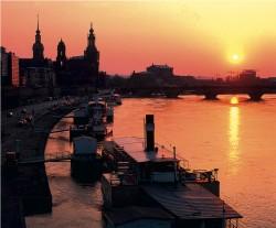 Abendstimmung in Dresden.