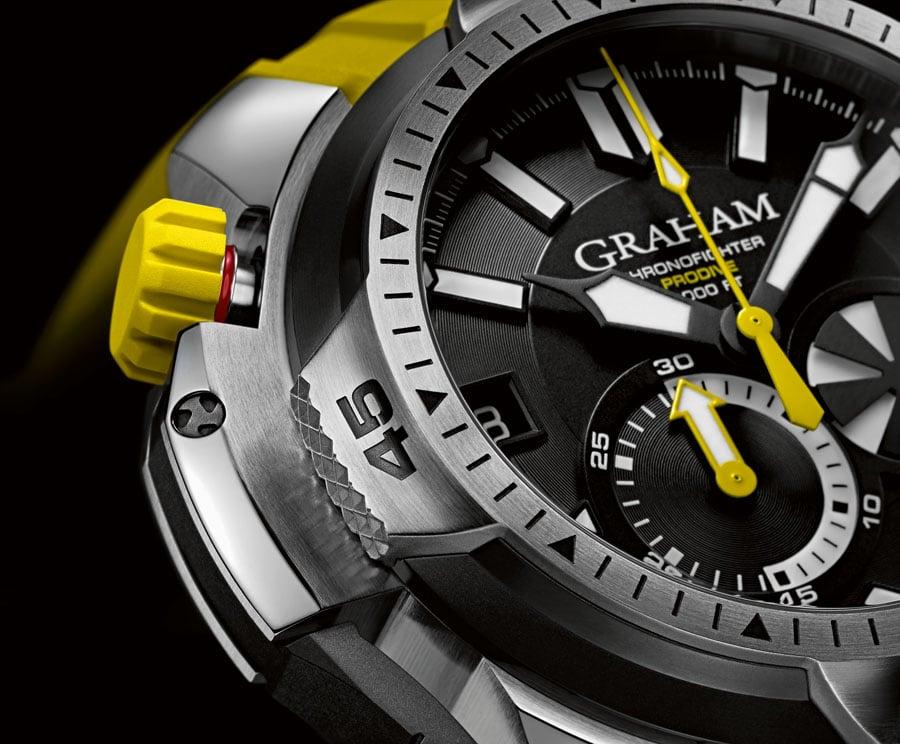 Graham Chronofighter Prodive 2CDAV close up