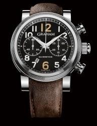 Auch mit schwarzem Zifferblatt erhältlich: die Silverstone Vintage 30 von Graham