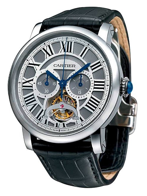 Rotonde de Cartier Tourbillon Single Push-Piece Chronograph (Platin, 184.000 Euro)