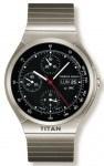 Die wohl bekannteste Uhr von Porsche Design: Der Titan-Chronograph, gefertigt 1980 von IWC. Neu und schwer zu bearbeiten ist damals das Gehäusematerial und entsprechend groß die Herausforderung